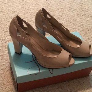 LifeStride peep toe heels.